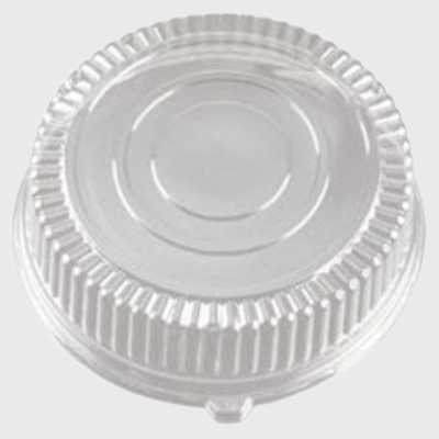 "Clear PETE Plastic Cater Tray 18"" Dome Lid EMI-380LP - 25/Case"