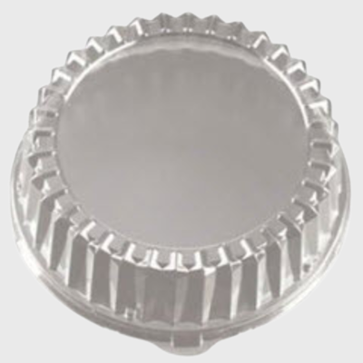 "Clear PETE Plastic Cater Tray 12"" Dome Lid EMI-320LP - 25/Case"