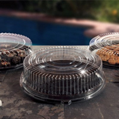 "Clear PETE Plastic Cater Tray 16"" Dome Lid EMI-360LP - 25/Case"