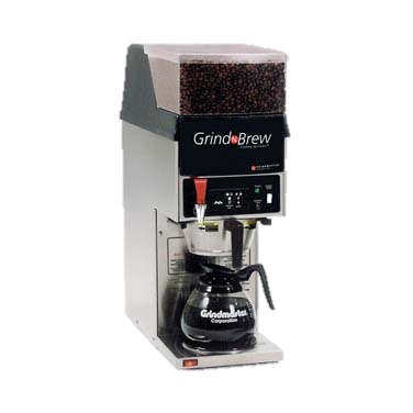 Grindmaster Cecilware Grind'n Brew® Coffee Grinder/Brewer, Single Brewer For Decanters (Decanters Sold Separately), (1) 5.5 Lbs Bean Hopper