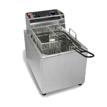 "superior-equipment-supply - Grindmaster Cecilware - Grindmaster Cecilware Electric Stainless Steel Countertop Fryer 11""W"