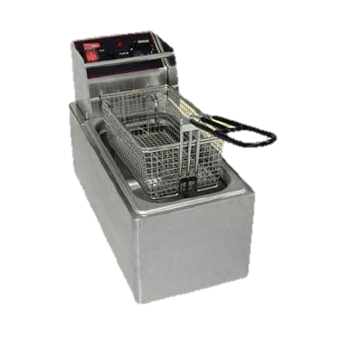 "Grindmaster Cecilware Electric Stainless Countertop Fryer 6.5""W"