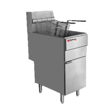 Grindmaster Cecilware Stainless Steel 40 lb. Fat Capacity Natural Gas Floor Fryer