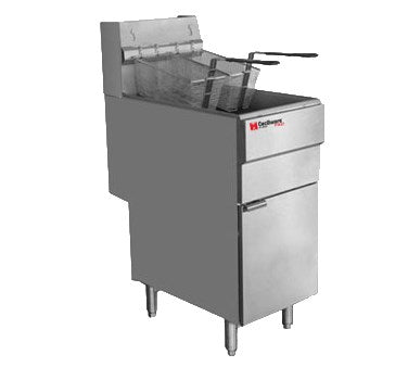 Grindmaster Cecilware Gas Floor Fryer Liquid Propane 50 Lbs Fat Capacity, Stainless Steel