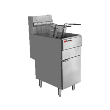 Grindmaster Cecilware Stainless Steel 70 lb. Fat Capacity Natural Gas Floor Fryer