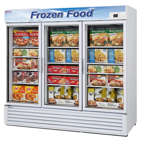 "Turbo Air Three-Section 81.88"" Freezer Merchandiser"