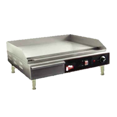 "Grindmaster Cecilware Stainless Steel 24"" Wide Electric Countertop Griddle"