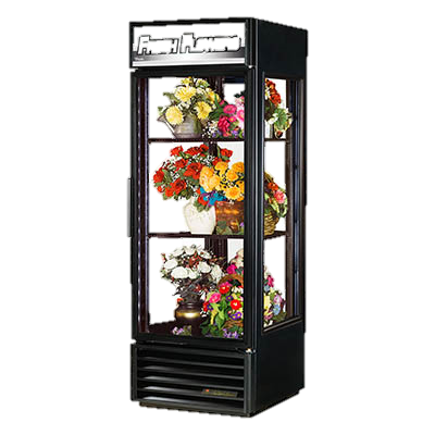 superior-equipment-supply - True Food Service Equipment - True One-Section Black Exterior Floral Merchandiser