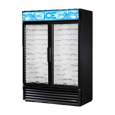 superior-equipment-supply - True Food Service Equipment - True White Vinyl Exterior Two Section Two Glass Door Ice Merchandiser