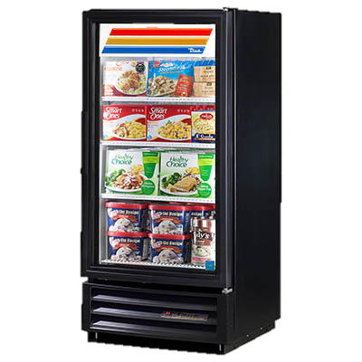 superior-equipment-supply - True Food Service Equipment - True One Section Three Shelf Powder Coated Exterior Freezer Merchandiser
