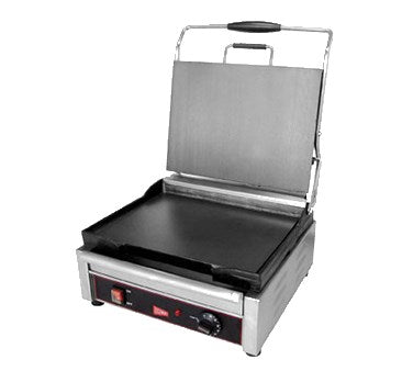 "superior-equipment-supply - Grindmaster Cecilware - Grindmaster Cecilware Sandwich/Panini Grill Single, 14-1/8""W x 11""D, Stainless Steel"
