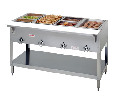 superior-equipment-supply - Duke Manufacturing - Duke Stainless Steel Electric Four Well Hot Food Serving Counter With Carving Board