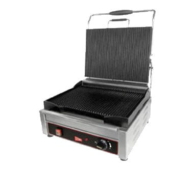 "Grindmaster Cecilware Sandwhich/Panini Grill Singel, 9-5/8""W x 9""D, Stainless Steel"