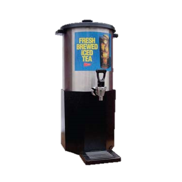 Grindmaster Cecilware Iced Tea Dispenser & Base, 3 Gallon Capacity, Stainless Steel Dispenser