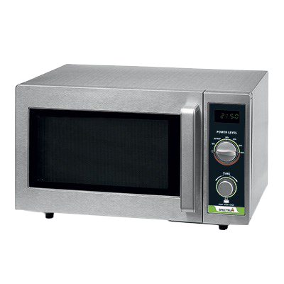 Spectrum Commercial Microwave 120v Dial Control Stainless Steel 0.9 Cubic Feet Capacity