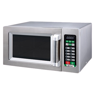Spectrum Commercial Microwave 120v Touch Control Stainless Steel 0.9 Cubic Feet Capacity