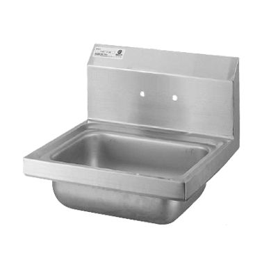 "superior-equipment-supply - Turbo Air - Turbo Air Stainless Steel Wall Mounted 17"" Wide Hand Sink"