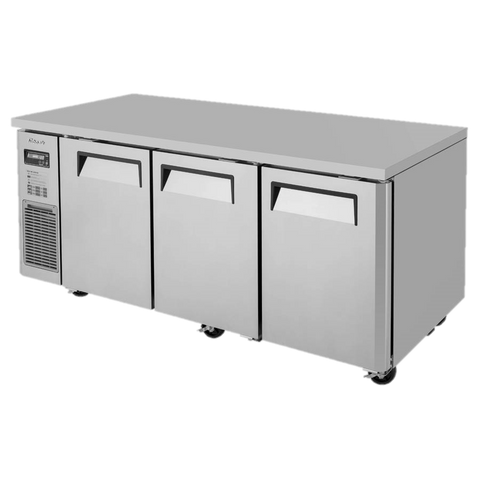 "superior-equipment-supply - Turbo Air - Turbo Air Stainless Steel 71"" Wide Three-Section Undercounter Refrigerator"
