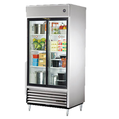 superior-equipment-supply - True Food Service Equipment - True Stainless Steel Two Glass Sliding Door Reach-In Refrigerator