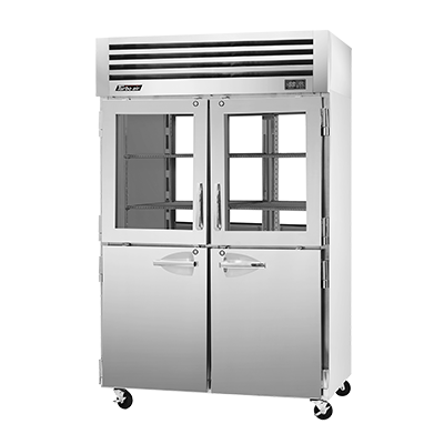 "superior-equipment-supply - Turbo Air - Turbo Air Stainless Steel Two-Section 52"" Wide Pass-Thru Refrigerator"