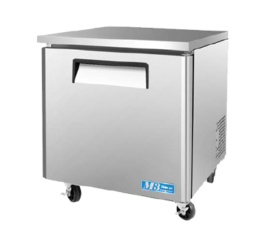 "superior-equipment-supply - Turbo Air - Turbo Air Stainless Steel 27.5"" Wide One-Section Low Boy Undercounter Refrigerator"