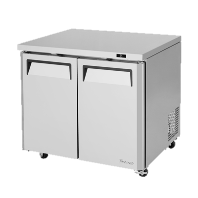 "superior-equipment-supply - Turbo Air - Turbo Air Stainless Steel 36"" Wide Two-Section Low Boy Undercounter Refrigerator"
