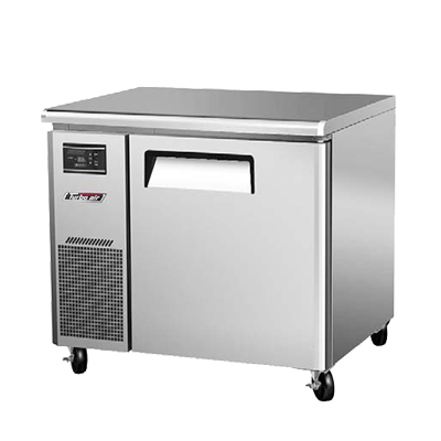 "superior-equipment-supply - Turbo Air - Turbo Air Stainless Steel 35"" Wide One-Section Narrow Undercounter Refrigerator"