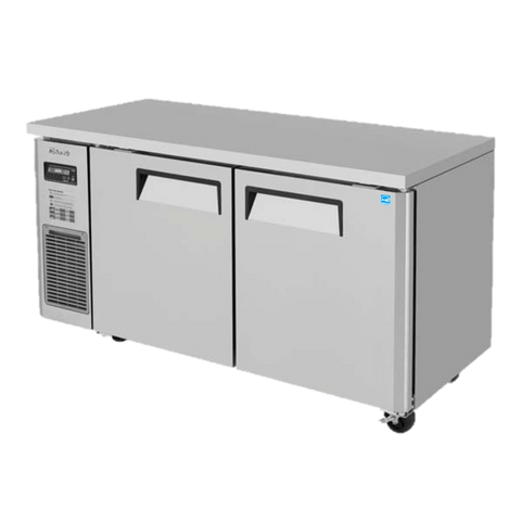"superior-equipment-supply - Turbo Air - Turbo Air Stainless Steel 59"" Wide Two-Section Narrow Undercounter Refrigerator"