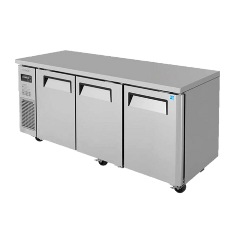 "superior-equipment-supply - Turbo Air - Turbo Air Stainless Steel 71"" Wide Three-Section Narrow Undercounter Refrigerator"