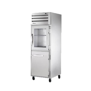 True Glass & Stainless Steel One Section Reach-in Refrigerator