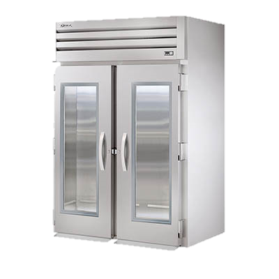 superior-equipment-supply - True Food Service Equipment - True Stainless Steel Two-Section Two Glass Door Roll-In Refrigerator