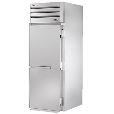 "True Stainless Steel One-Section One Door Roll-In Refrigerator 89""H"
