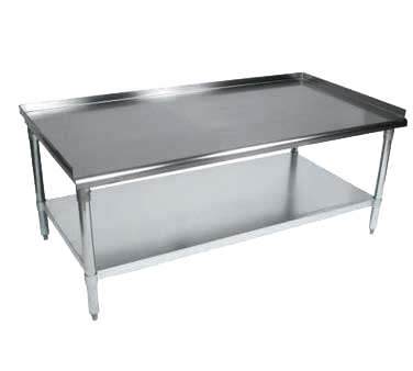 "BK Resources Equipment Stand 37""W x 30""D x 26""H Stainless Steel Top"