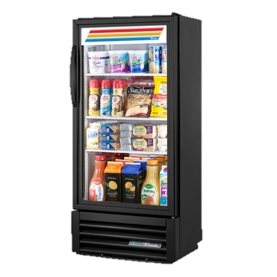 superior-equipment-supply - True Food Service Equipment - True One-Section Three Shelf Powder Coated Exterior Refrigerated Merchandiser