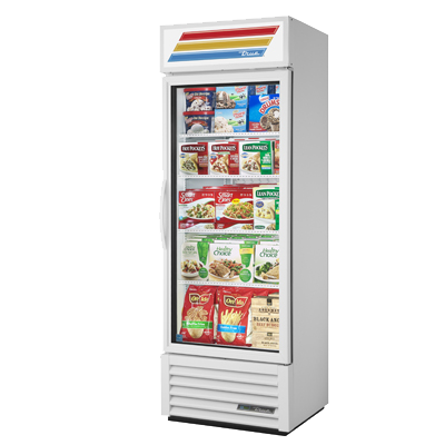 "superior-equipment-supply - True Food Service Equipment - True White Powder Coated One-Section Freezer Merchandiser 27""W"