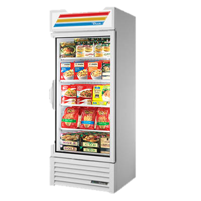 superior-equipment-supply - True Food Service Equipment - True One-Section Four Shelf Powder Coated Exterior Freezer Merchandiser