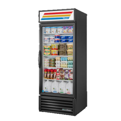 True One-Section Four Shelf Powder Coated Exterior Refrigerated Merchandiser