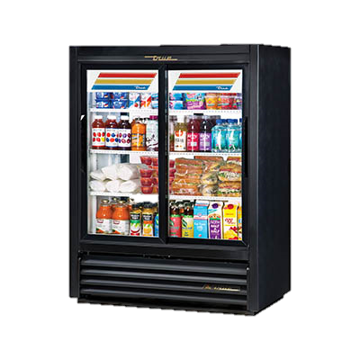 superior-equipment-supply - True Food Service Equipment - True Two-Section Laminated Vinyl Exterior Pass-Thru Cooler