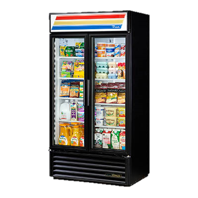 superior-equipment-supply - True Food Service Equipment - True Powder Coated Exterior Two-Section Two Door Refrigerated Merchandiser