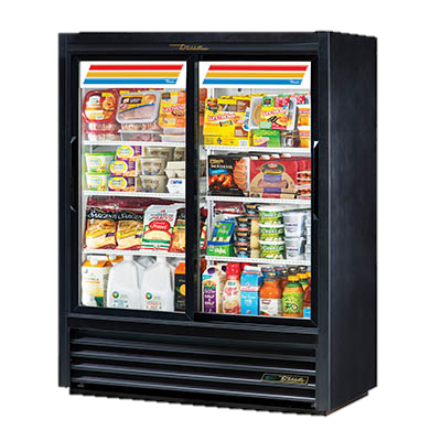superior-equipment-supply - True Food Service Equipment - True Powder Coated Two Section Two Door Convenience Store Cooler