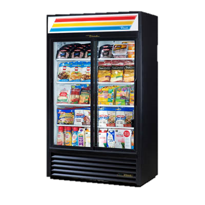 True Powder Coated Steel Exterior Two-Section Refrigerated Merchandiser