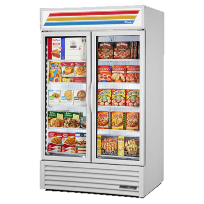 superior-equipment-supply - True Food Service Equipment - True Two Section White Powder Coated Steel Exterior Exterior Freezer Merchandiser