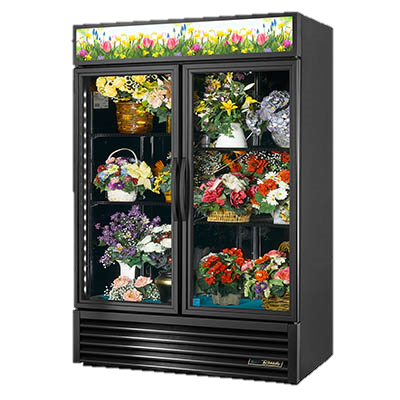 superior-equipment-supply - True Food Service Equipment - True Two-Section Four Shelf Powder Coated Exterior Floral Merchandiser