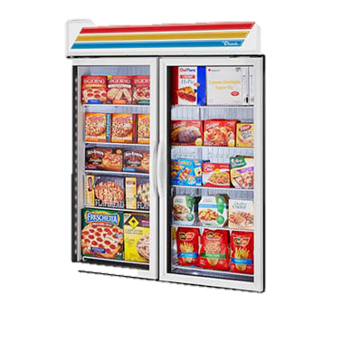 superior-equipment-supply - True Food Service Equipment - True Two-Section Eight Shelf Powder Coated Exterior Standard Look Freezer Merchandiser