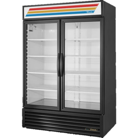 "Refurbished True Two Glass Door Refrigerated Merchandiser 54 1/8"" L x 29 7/8"" D x 78 5/8"" H 49 Cubic Feet"