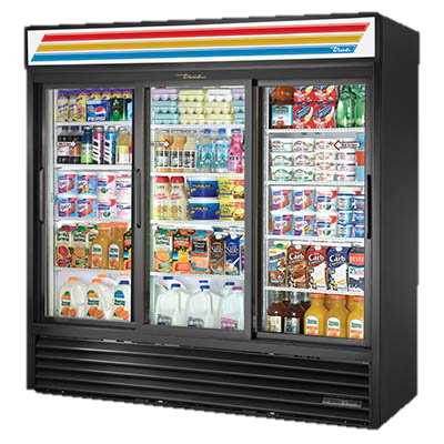 superior-equipment-supply - True Food Service Equipment - True Three Section Twelve Shelf Powder Coated Steel Exterior Refrigerated Merchandiser