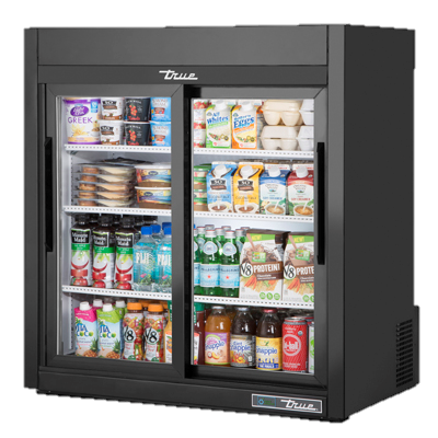 superior-equipment-supply - True Food Service Equipment - True Countertop Two Glass Sliding Door Powder Coated Exterior Refrigerated Merchandiser