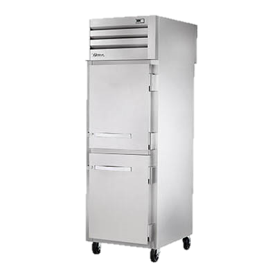 superior-equipment-supply - True Food Service Equipment - True Stainless Steel One Section Two Solid Half Door Pass-Thru Freezer