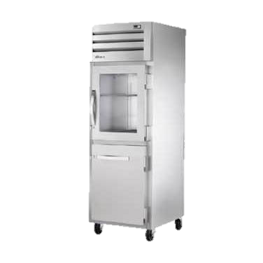 superior-equipment-supply - True Food Service Equipment - True One Section One Glass & One Stainless Steel Half Door Reach-In Refrigerator