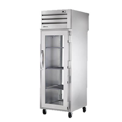 superior-equipment-supply - True Food Service Equipment - True Stainless Steel One Section One Glass Door Pass-Thru Refrigerator
